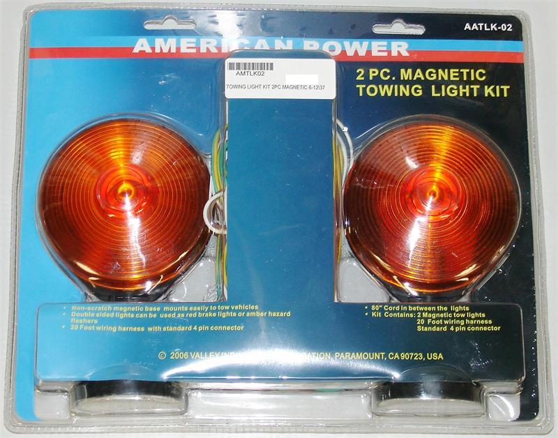 TRAILER LIGHT KIT 2PC WITH MAGNETS & WIRING HARNESS 6-12\\46